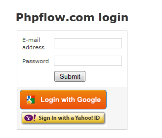 Website login with google account/yahoo account
