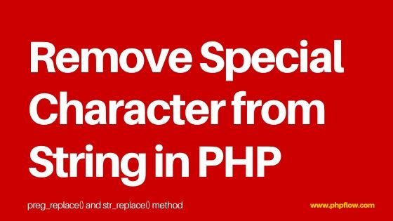 remove-special-character-php