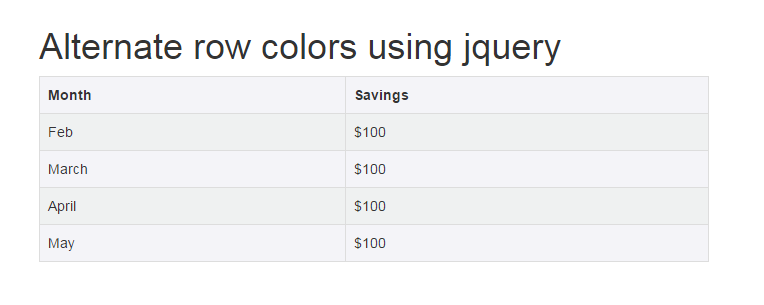 alternate-row-color-jquery