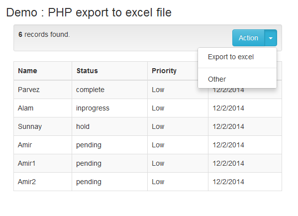 Exporting Data To Excel With Php And Mysql Phpflow Com