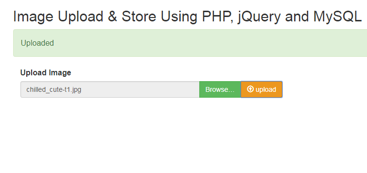 PHP Image Upload Using jQuery and MySQL - Phpflow com