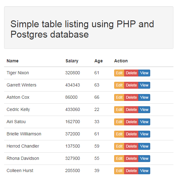 simple-table-listing-postgres-php