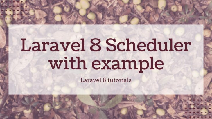 Laravel 8 Schedular with example
